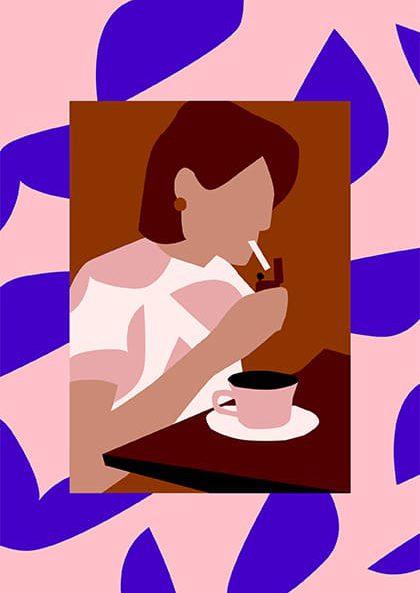 Alexandra de Assunçao - Café parisien