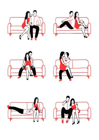 Agathe Sorlet Love on sofa