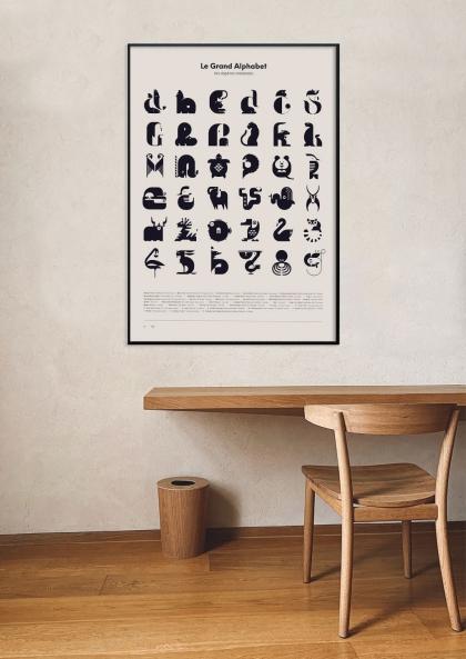 Johann Lucchini Le grand alphabet – Blanc