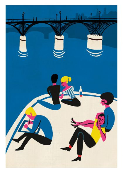 Paul Thurlby Le pont des arts