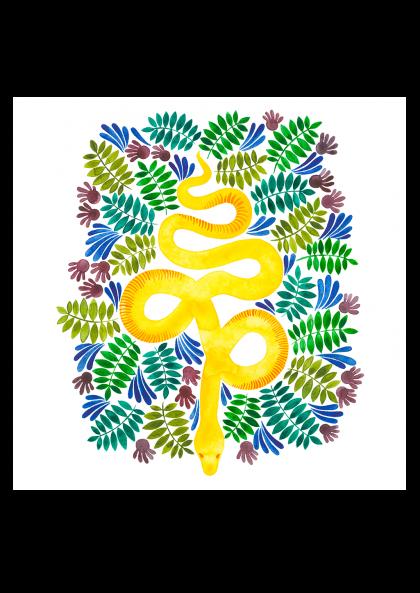 Emilie Bouguereau Serpent jaune