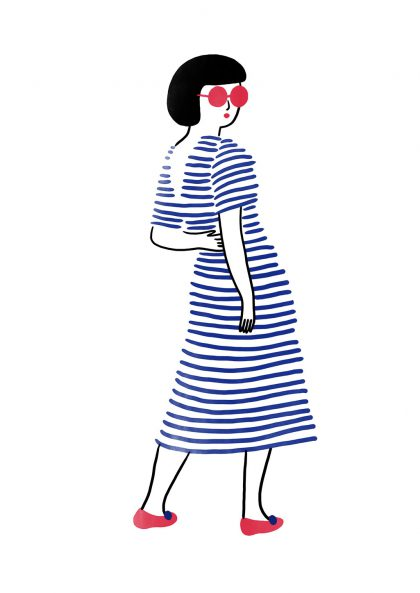 Agathe Sorlet - Stripes girl 1