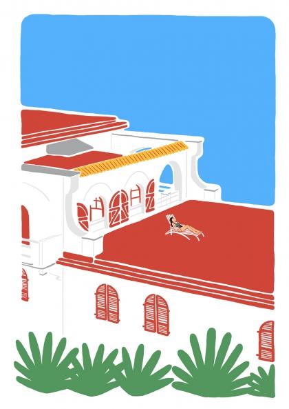 Blandine Lamy - Sur les toits de Guétary