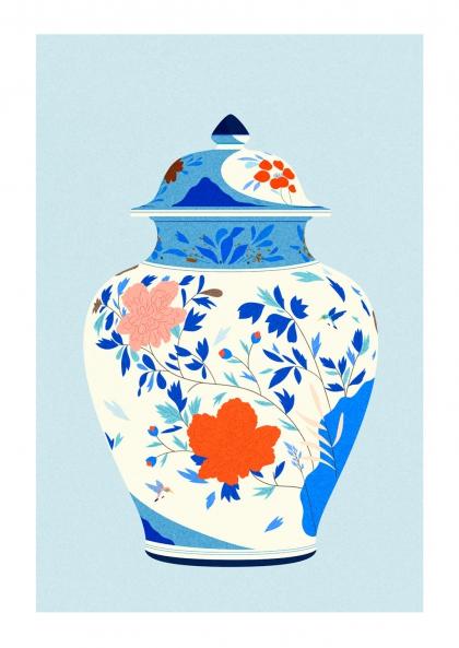 Julie Guillem - Vase aux oiseaux