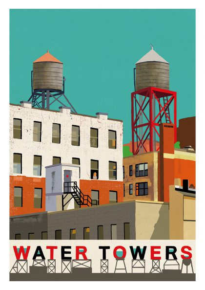 Paul Thurlby - Water Towers A3