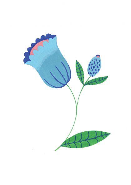 Agathe Singer Blue Flower