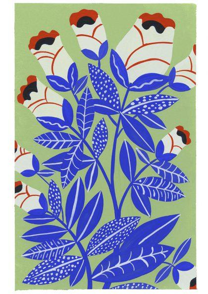 Agathe Singer Blue Plants