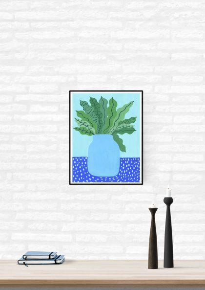 Agathe Singer Blue Vase
