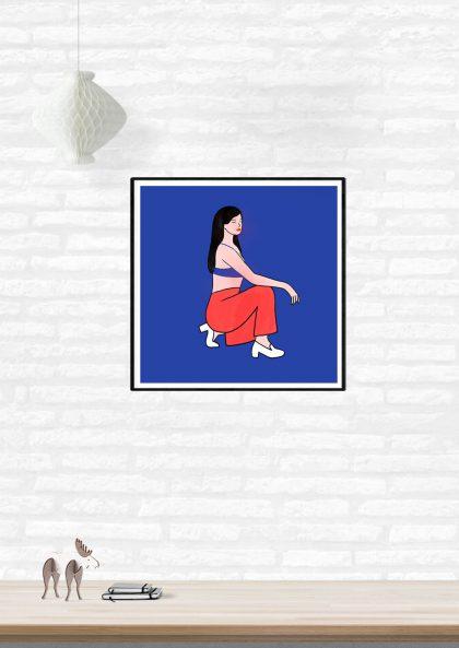 Lorraine Sorlet En rouge et bleu