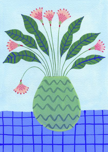 Agathe Singer - Plant on blue