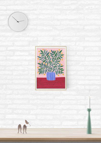 Agathe Singer Plant on pink