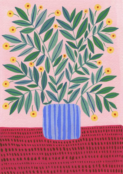 Agathe Singer - Plant on pink