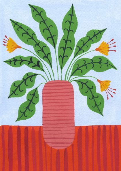 Agathe Singer - Plant on red