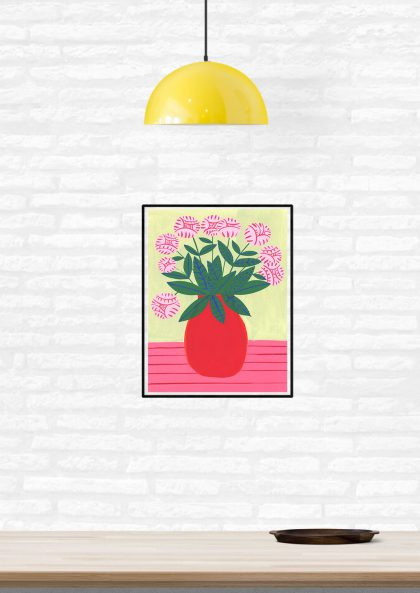Agathe Singer Red Vase