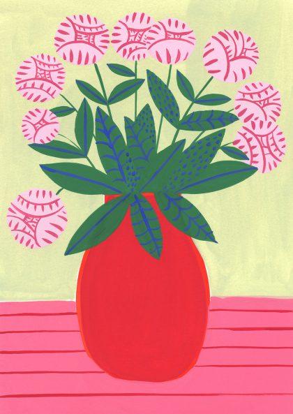 Agathe Singer - Red Vase